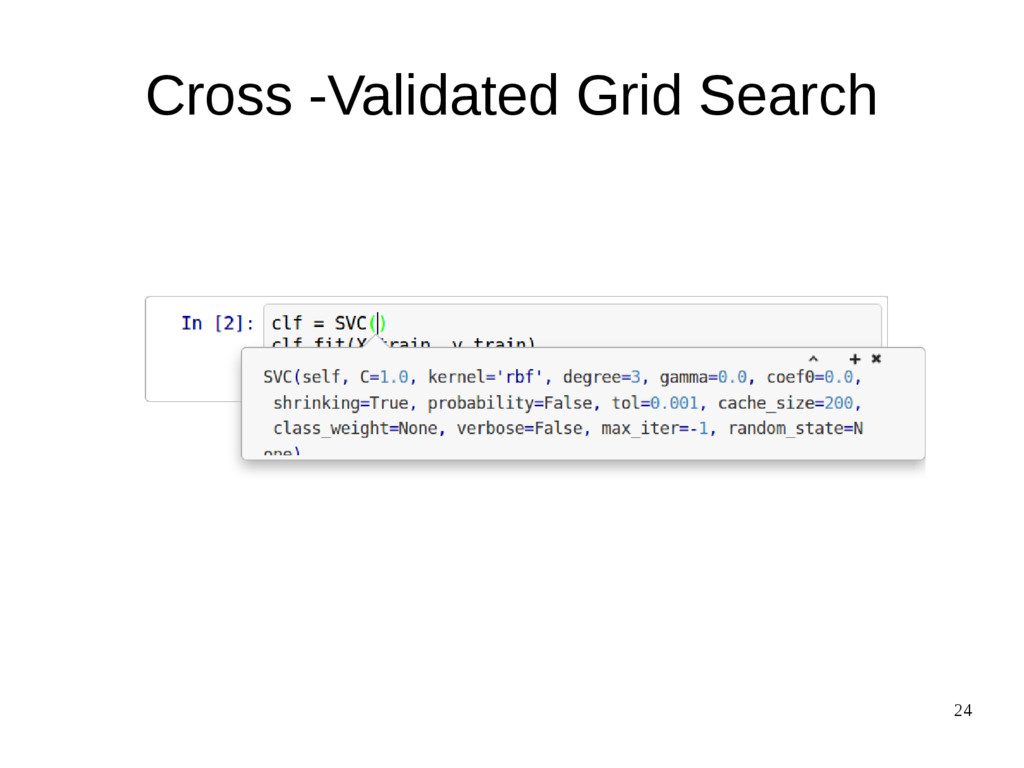 24 Cross -Validated Grid Search
