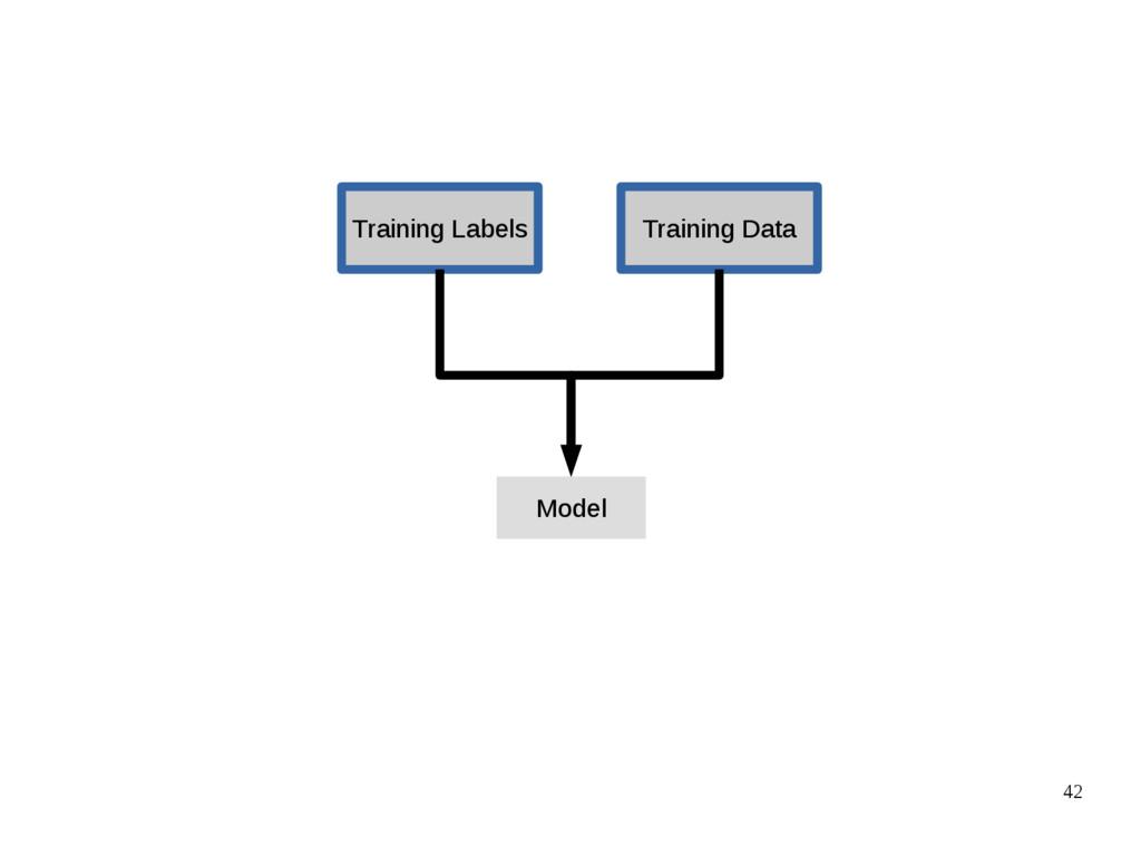 42 Training Data Training Labels Model