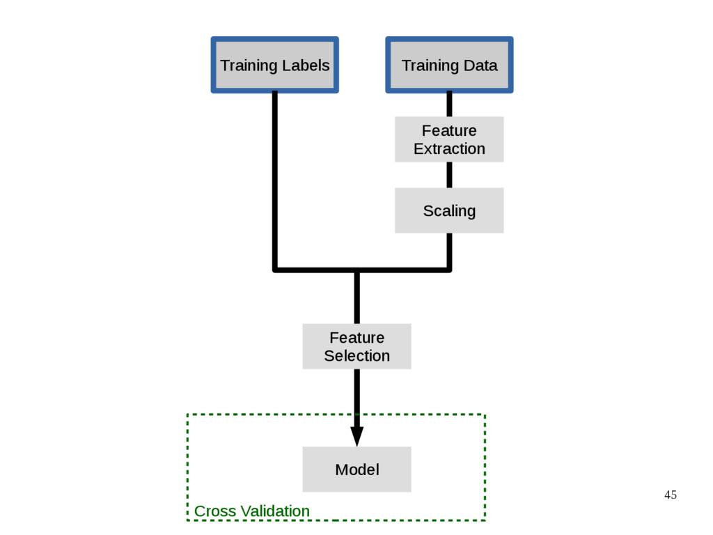 45 Training Data Training Labels Model Feature ...