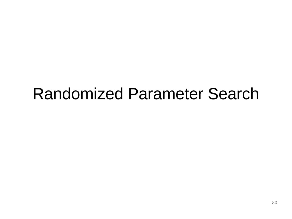 50 Randomized Parameter Search