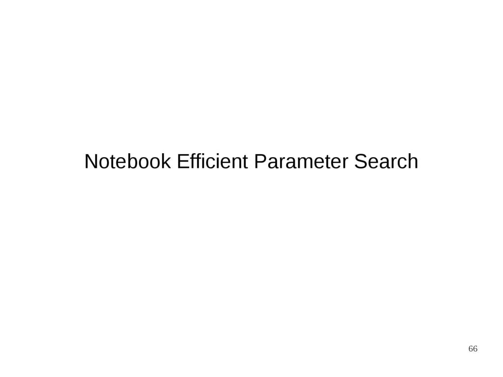 66 Notebook Efficient Parameter Search