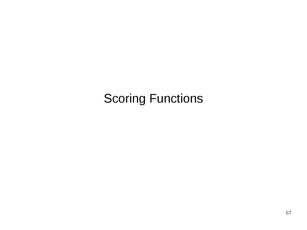 67 Scoring Functions