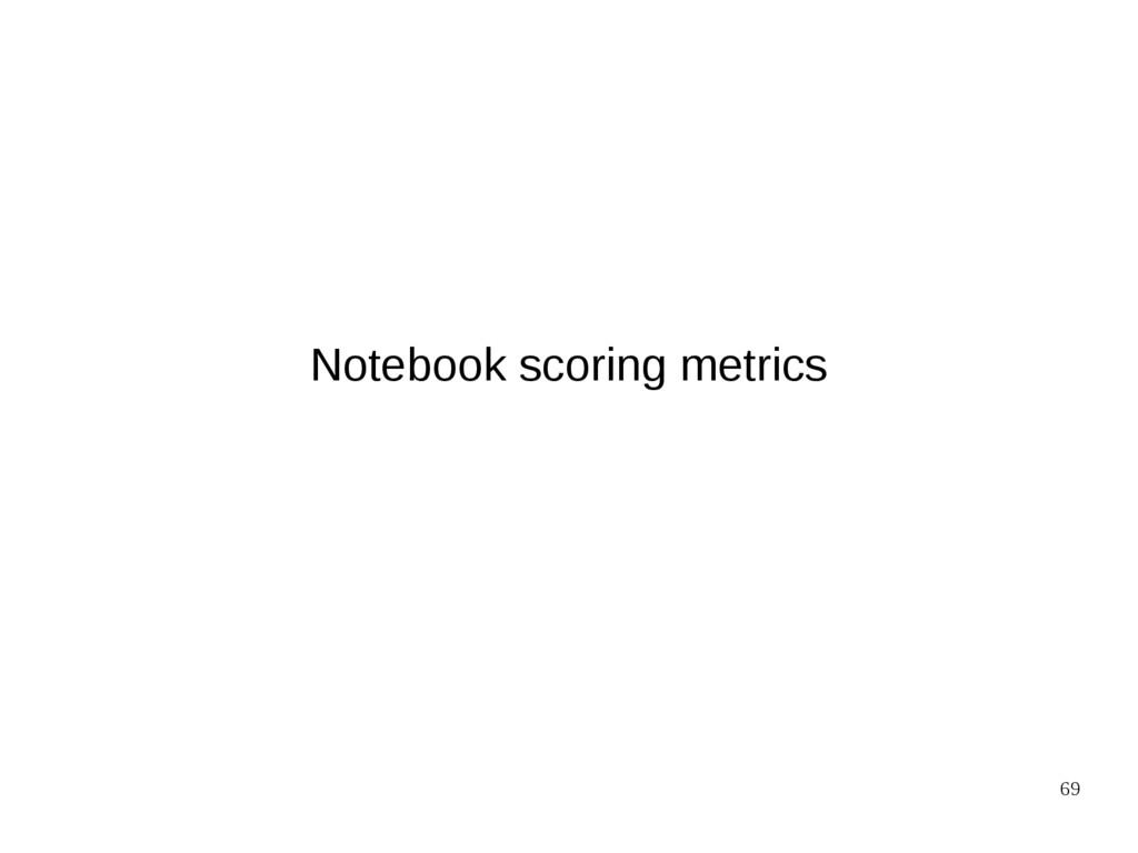 69 Notebook scoring metrics