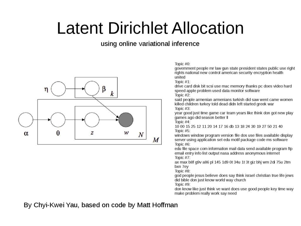 Latent Dirichlet Allocation using online variat...