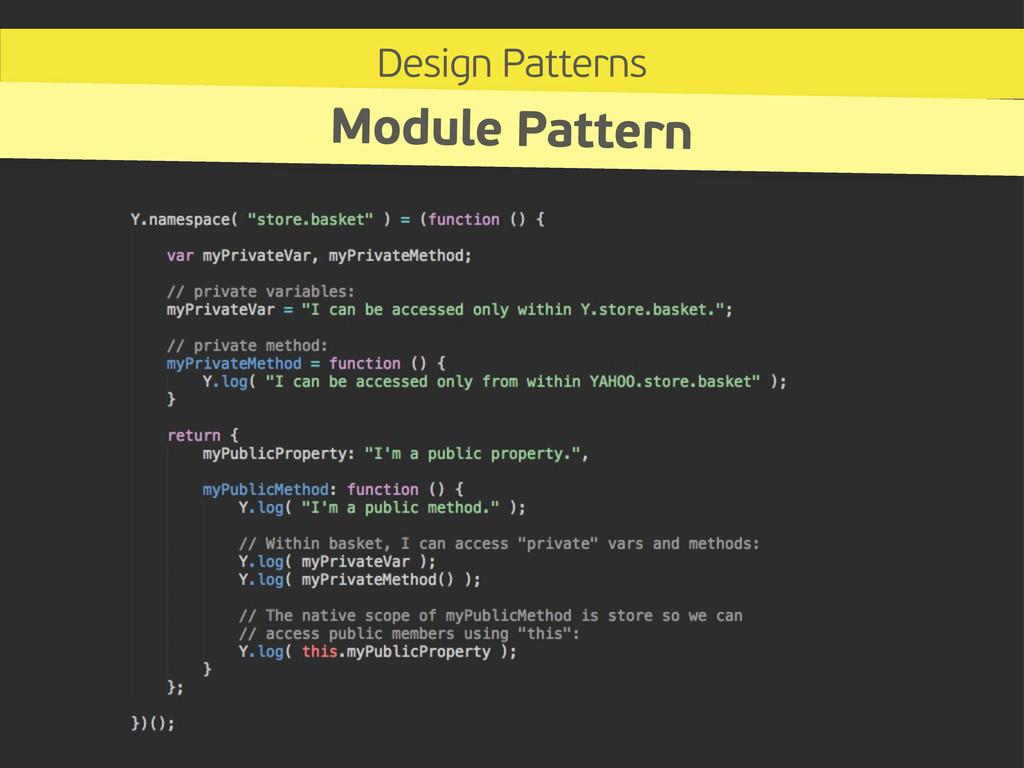 Design Patterns Module Pattern