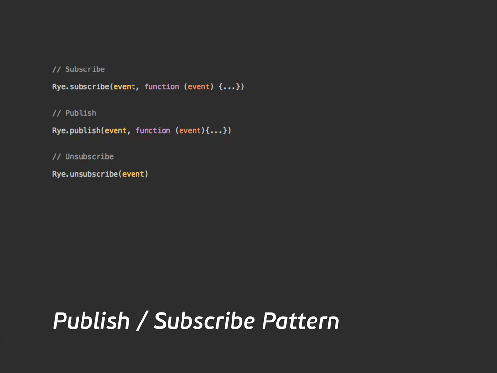 Publish / Subscribe Pattern