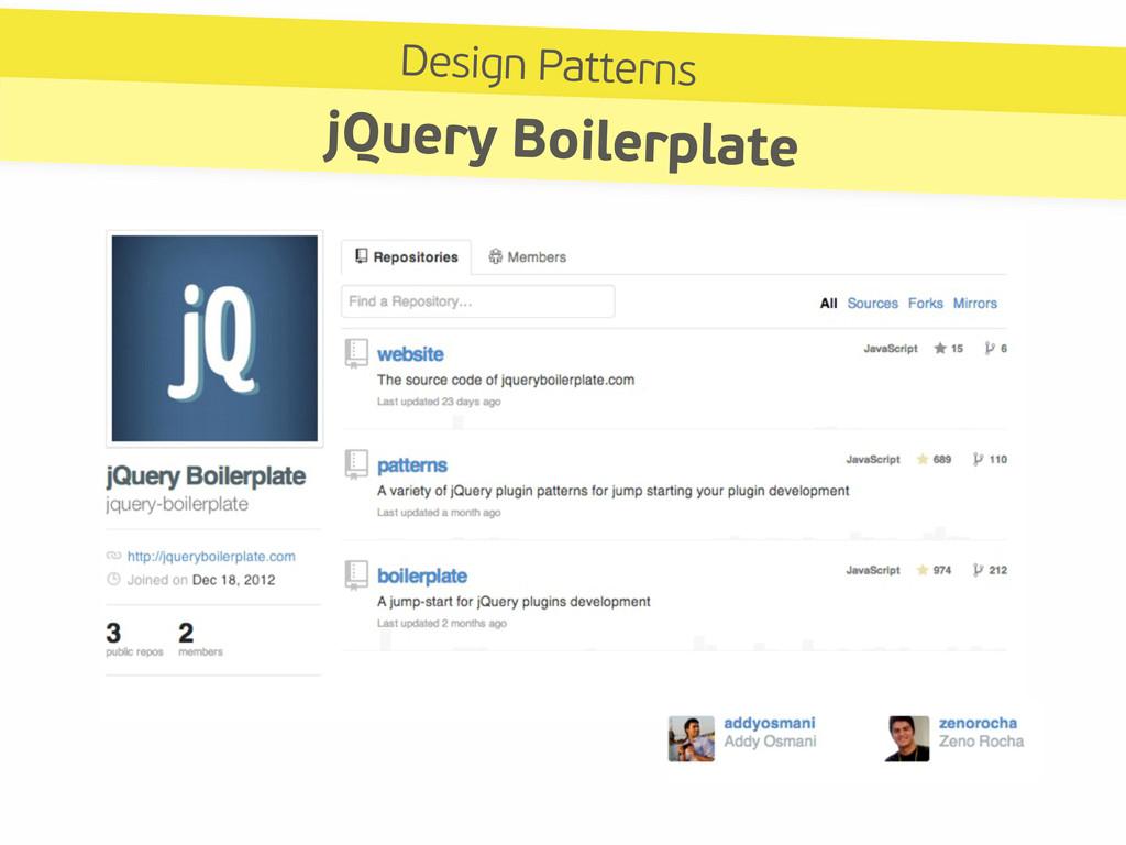Design Patterns jQuery Boilerplate