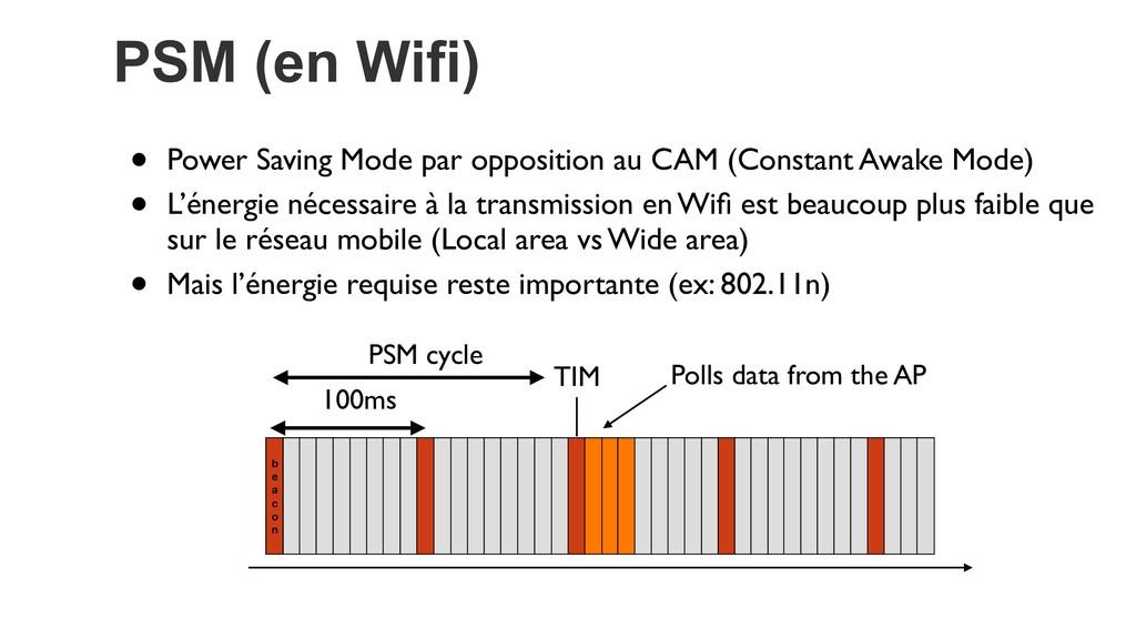 PSM (en Wifi) • Power Saving Mode par oppositio...