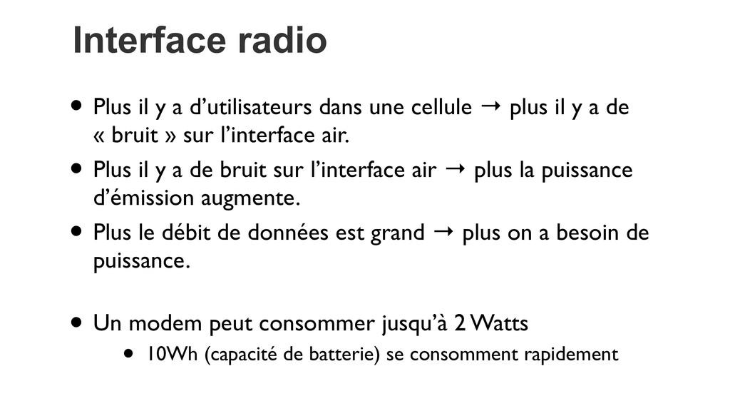 Interface radio • Plus il y a d'utilisateurs da...