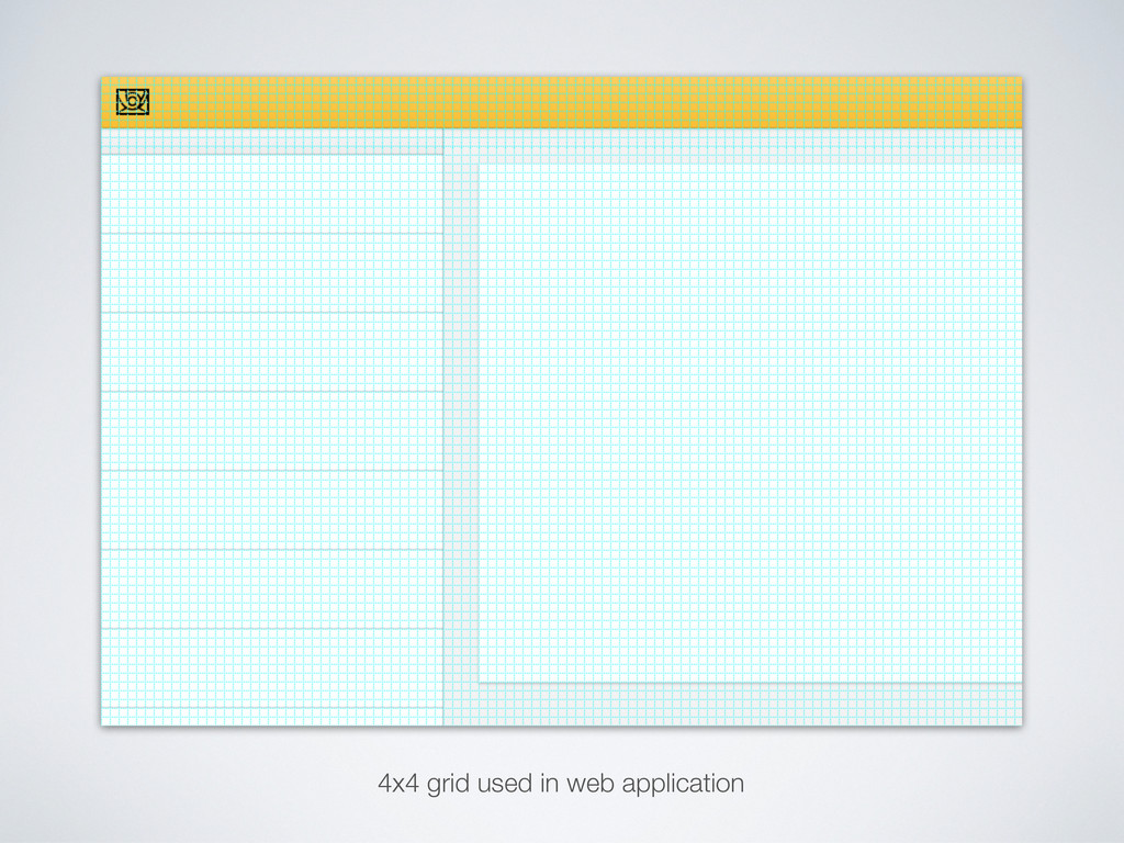 4x4 grid used in web application