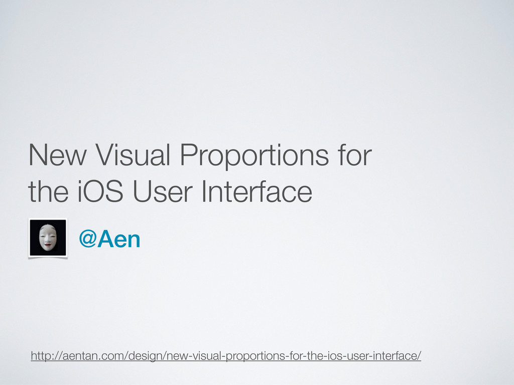 New Visual Proportions for the iOS User Interfa...