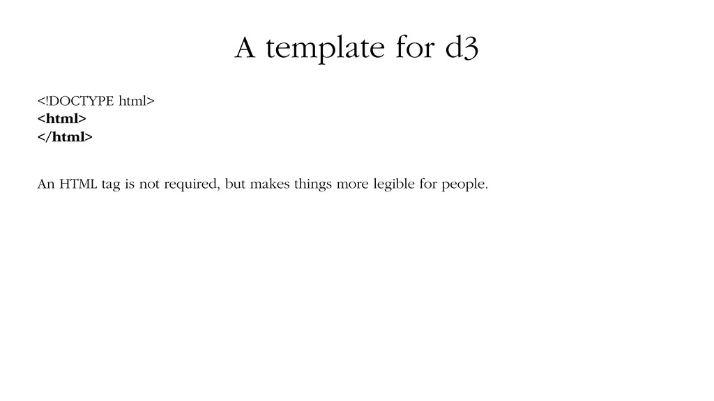 A template for d3 <!DOCTYPE html> <html> </html...