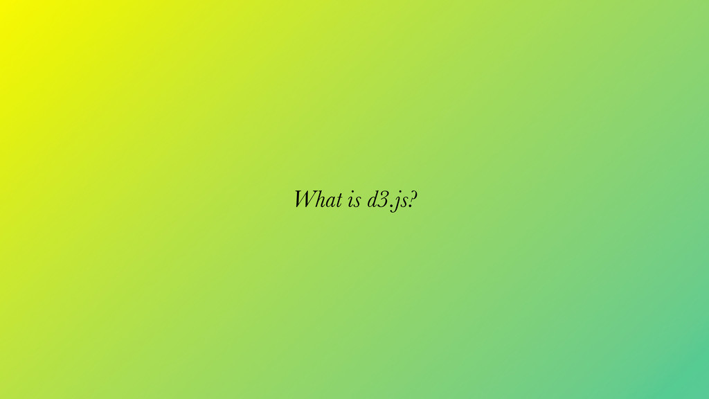What is d3.js?