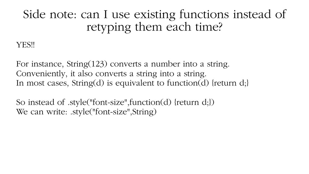 Side note: can I use existing functions instead...