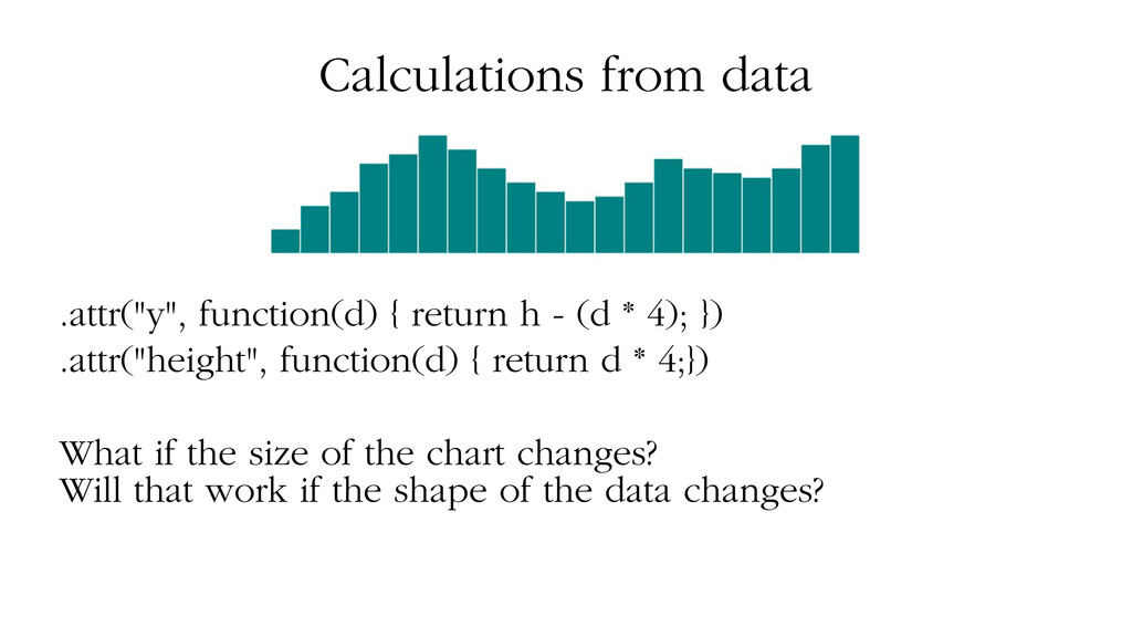 "Calculations from data .attr(""y"", function(d) {..."