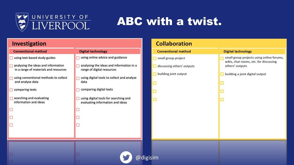 ABC with a twist. @digisim