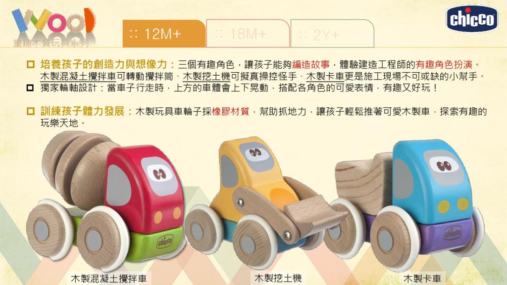 童趣木質玩具系列 :: 12M+ :: 18M+ :: 2Y+ 木製混凝土攪拌車 木製挖土機 ...