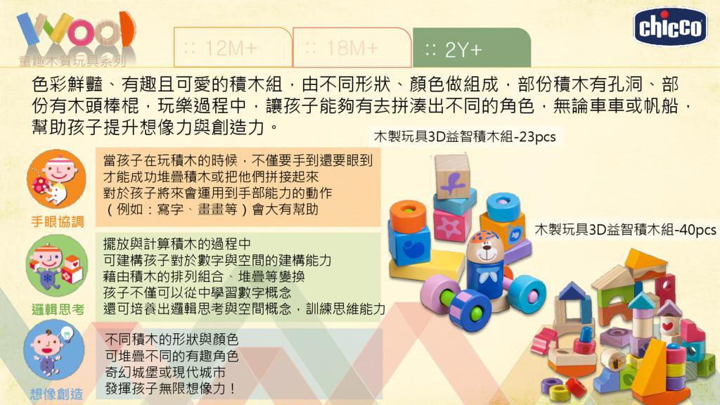童趣木質玩具系列 :: 12M+ :: 18M+ :: 2Y+ 木製玩具3D益智積木組-23p...