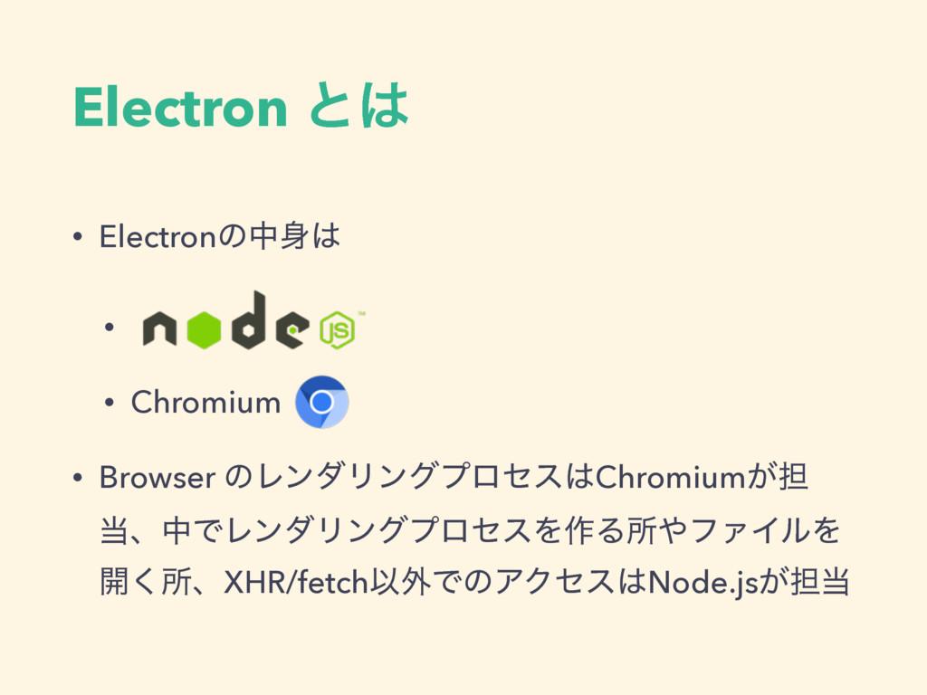 Electron ͱ • Electronͷத • • Chromium • Brows...