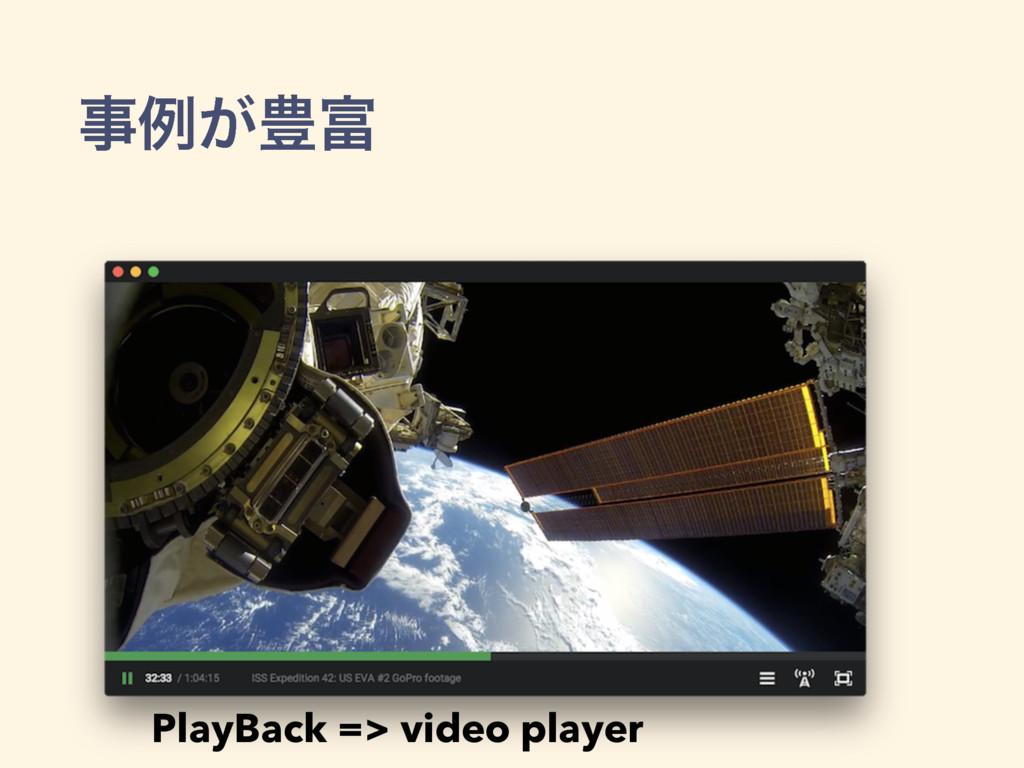 ྫ͕๛ PlayBack => video player