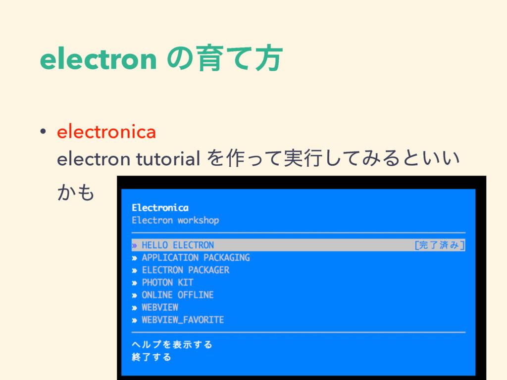 electron ͷҭͯํ • electronica  electron tutorial...