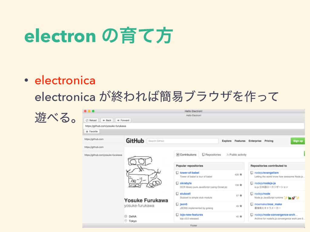 electron ͷҭͯํ • electronica  electronica ͕ऴΘΕ...