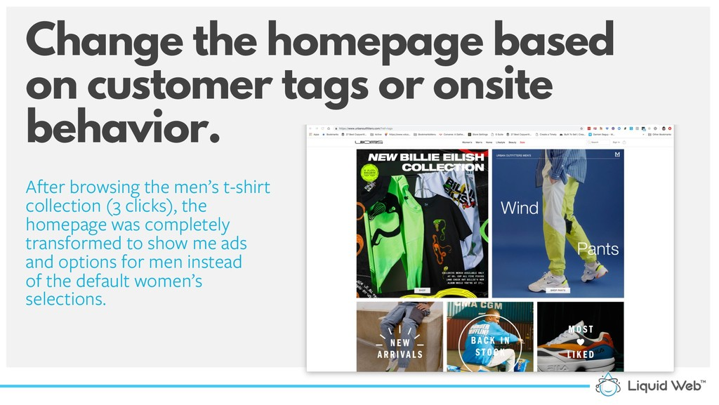 Change the homepage based on customer tags or o...