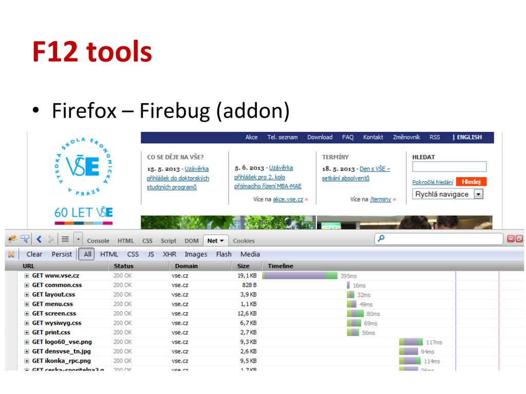 F12 tools • Firefox – Firebug (addo...