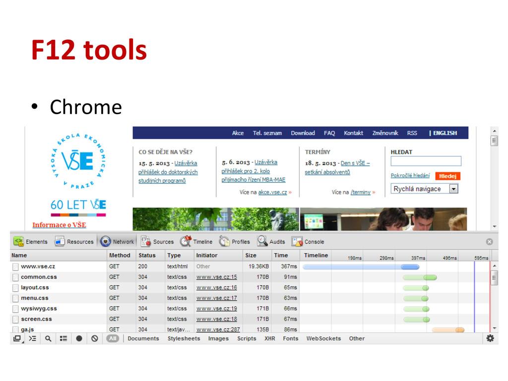 F12 tools • Chrome