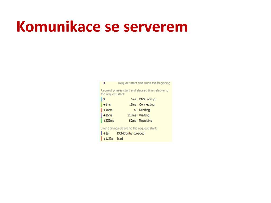 Komunikace se serverem