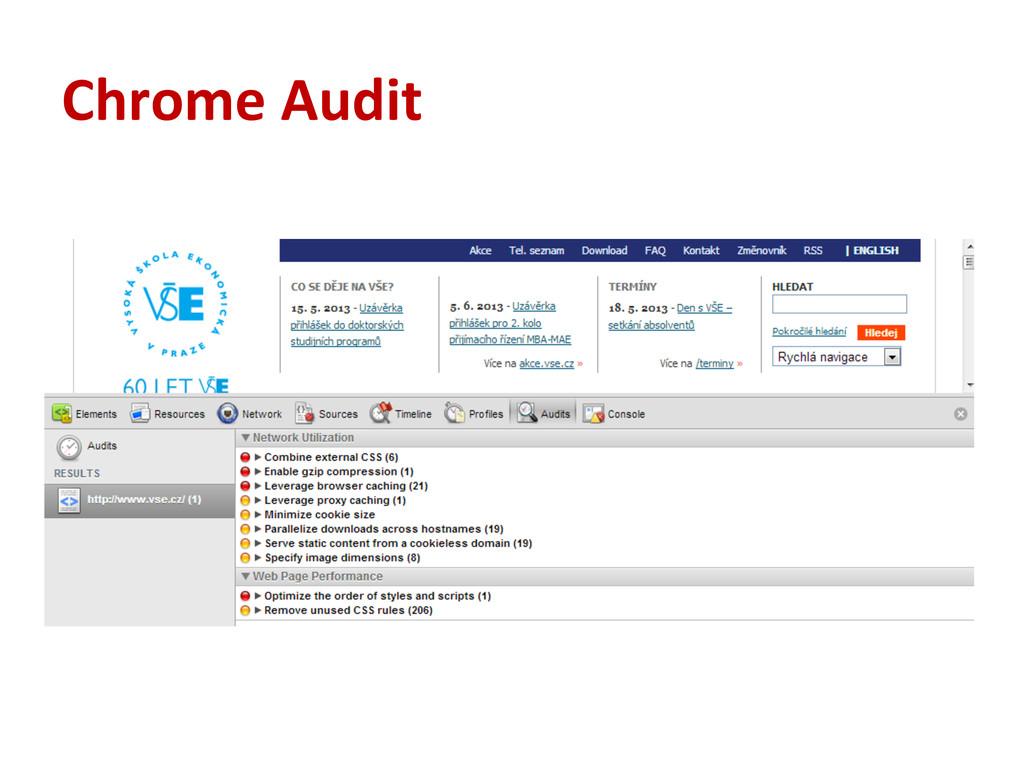 Chrome Audit