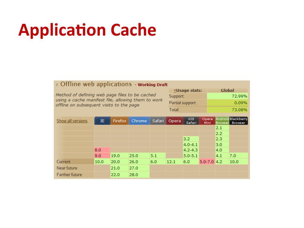 Applica#on Cache