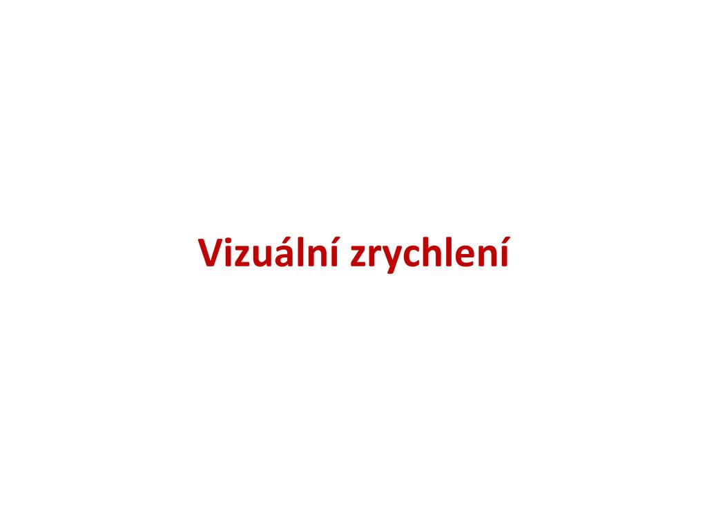 Vizuální zrychlení