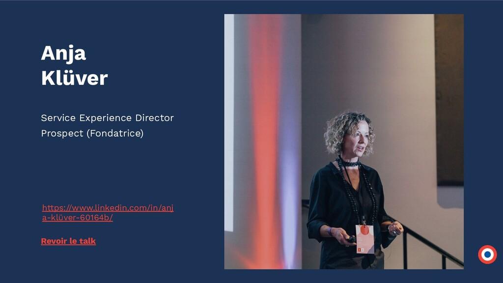 Anja Klüver Service Experience Director Prospec...