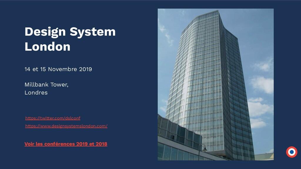 14 et 15 Novembre 2019 Millbank Tower, Londres ...