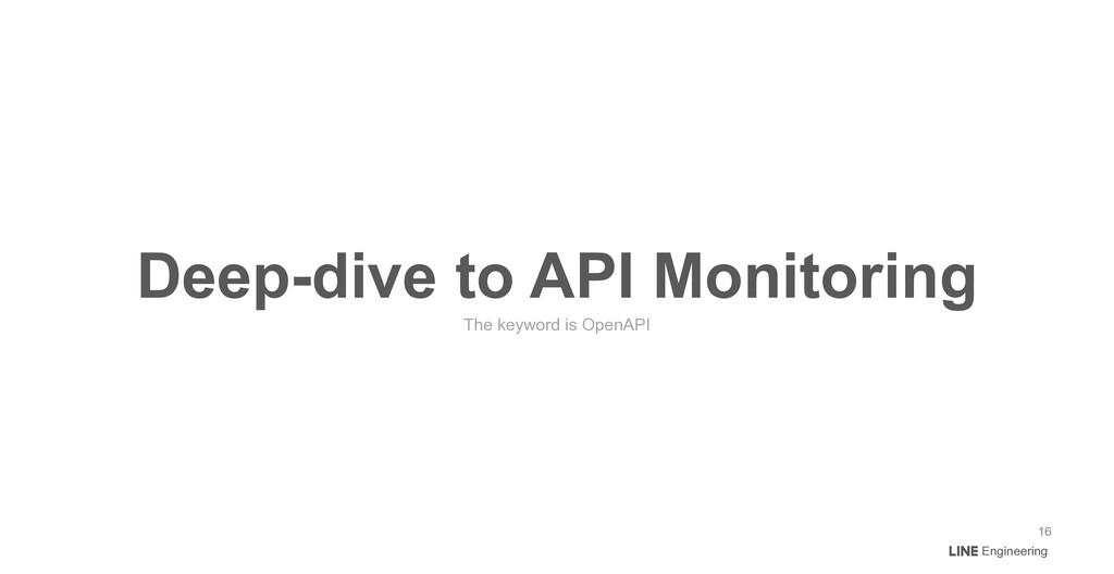 Engineering Deep-dive to API Monitoring The key...