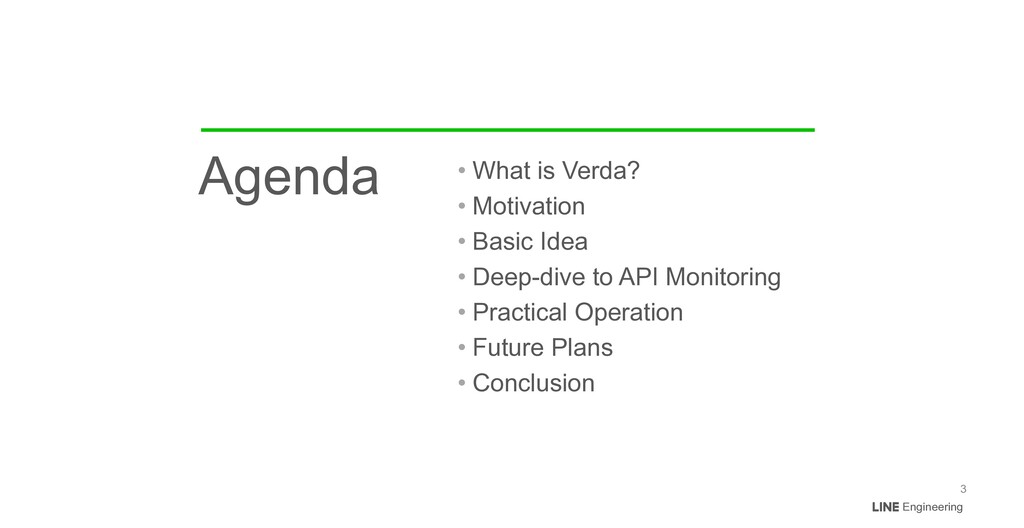 Engineering Agenda • What is Verda?   • Motivat...