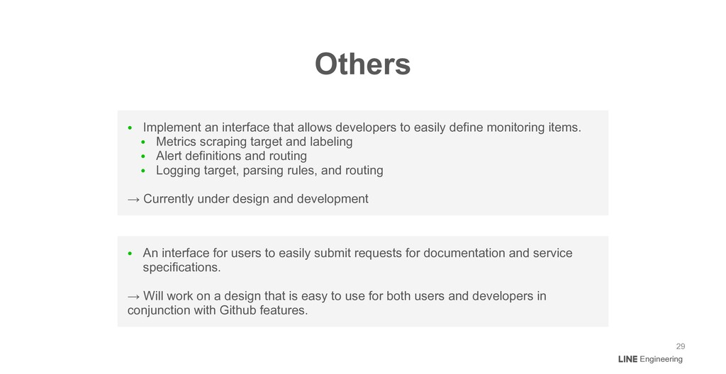 ● Implement an interface that allows developers...