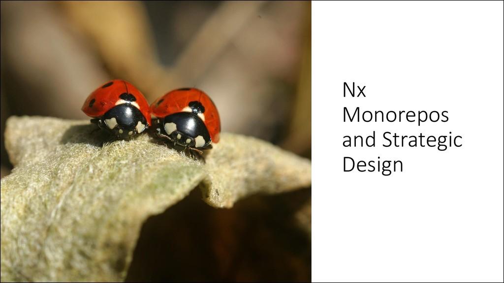 @ManfredSteyer Nx Monorepos and Strategic Design