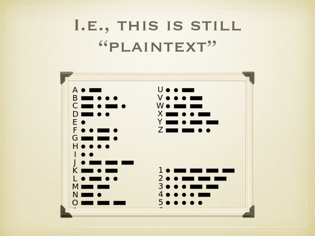 "I.e., this is still ""plaintext"""
