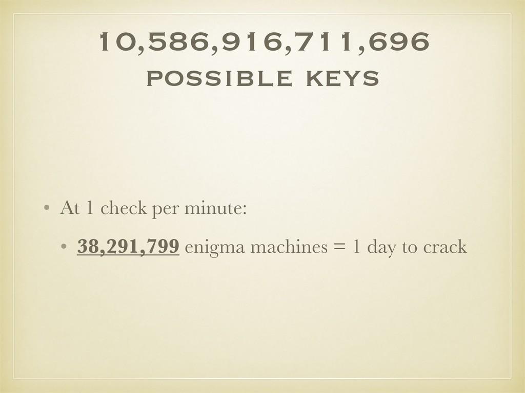 10,586,916,711,696 possible keys • At 1 check p...