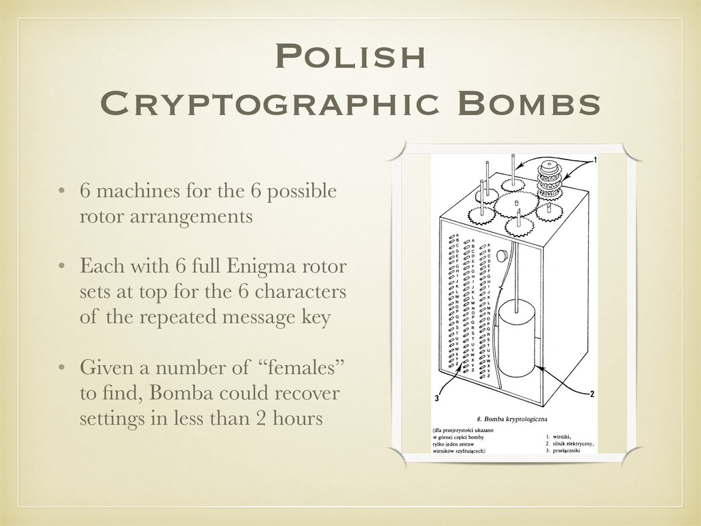 Polish Cryptographic Bombs • 6 machines for the...