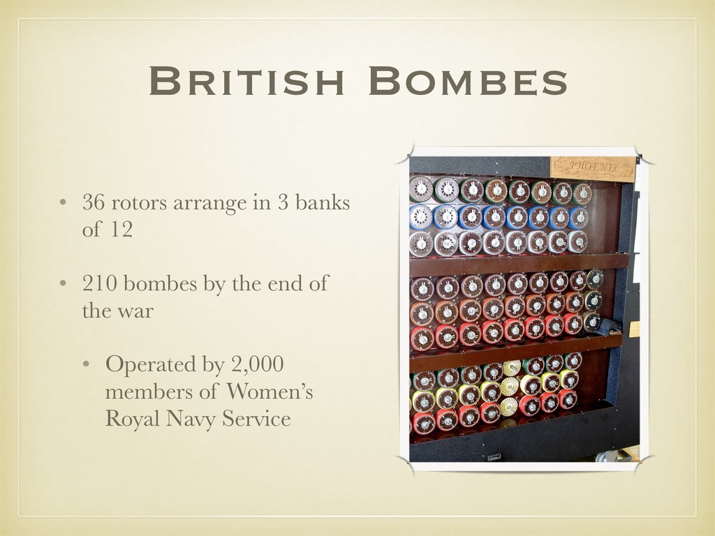 British Bombes • 36 rotors arrange in 3 banks o...