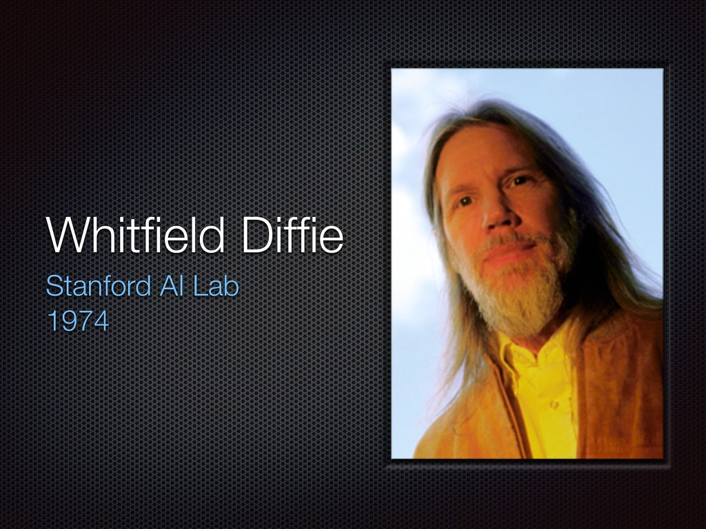 Whitfield Diffie Stanford AI Lab 1974