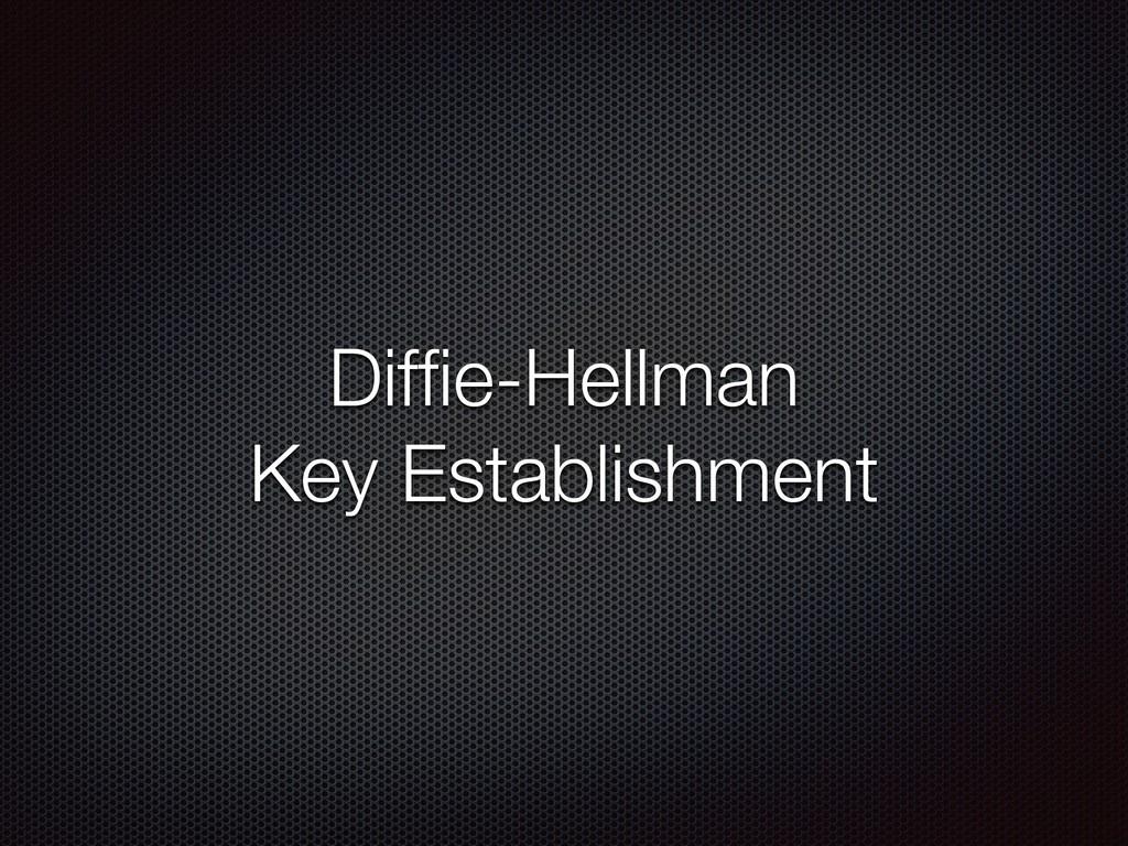 Diffie-Hellman Key Establishment