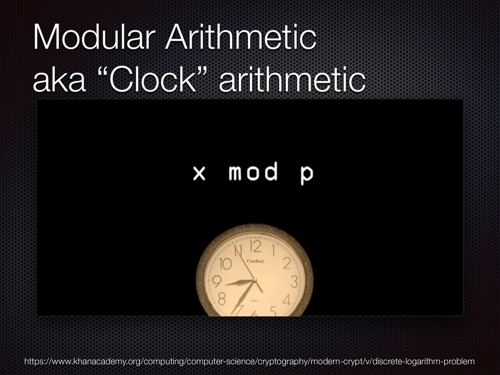 "Modular Arithmetic aka ""Clock"" arithmetic https..."