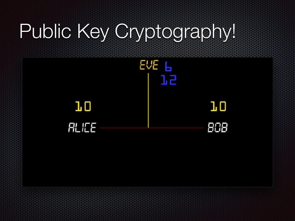 Public Key Cryptography!