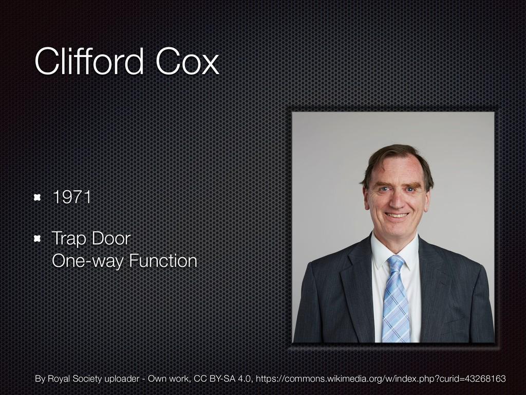 Clifford Cox 1971 Trap Door One-way Function B...