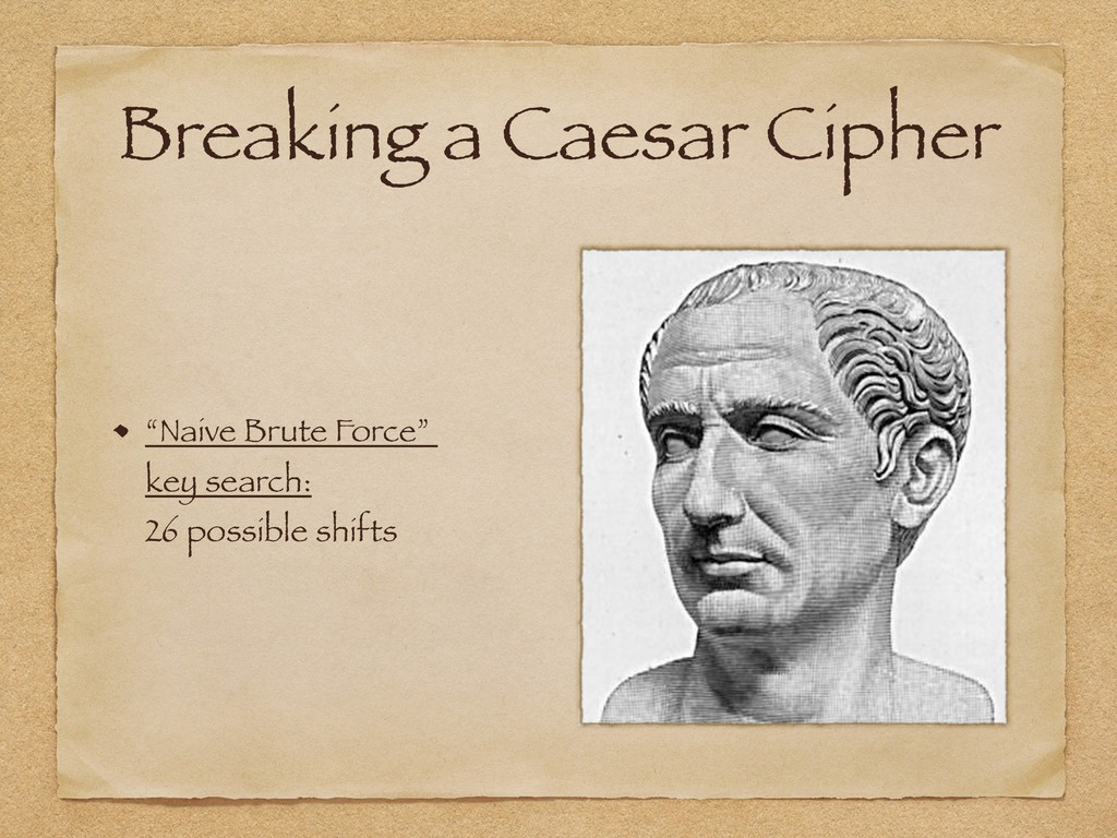 """Breaking a Caesar Cipher """"Naive Brute Force""""  ..."""