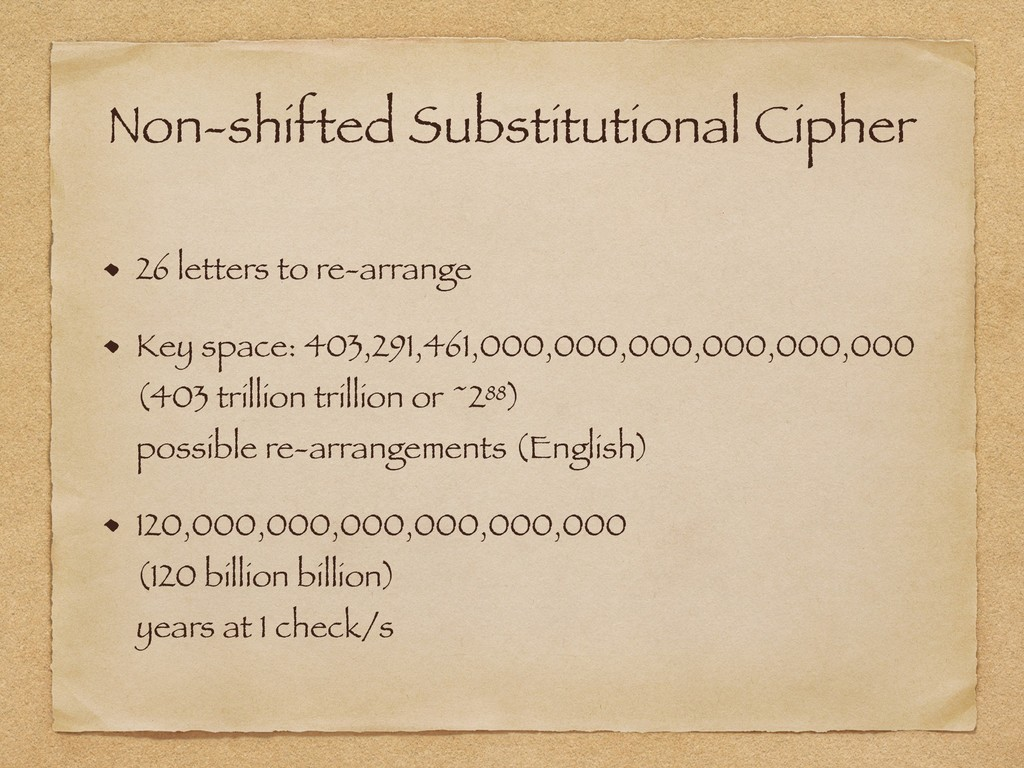 Non-shifted Substitutional Cipher 26 letters to...